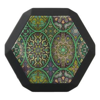 Kleurrijk abstract etnisch bloemenmandalapatroon zwarte bluetooth speaker