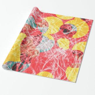 Kleurrijk abstract kunstwerk cadeaupapier