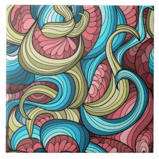Kleurrijk Abstract Ontwerp Tegeltje