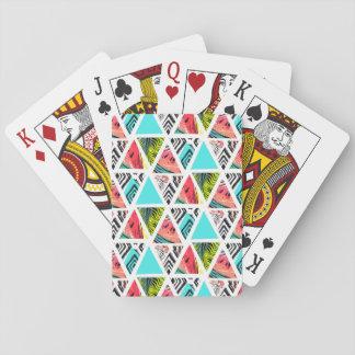 Kleurrijk Abstract Tropisch Patroon Speelkaarten