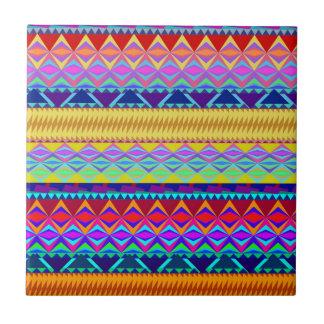 Kleurrijk Azteeks Ontwerp Tegeltje Vierkant Small