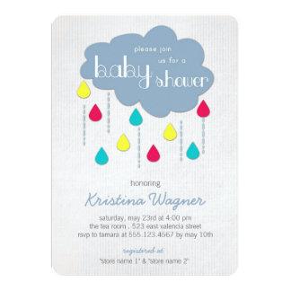 Kleurrijk bestrooit de Uitnodiging van het Baby