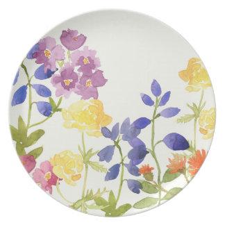 Kleurrijk Bloemen het Schilderen Watercolour Bord