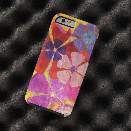 kleurrijk bloemen vectorart. tough iPhone 6 case