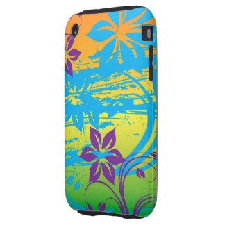 kleurrijk bloemen vectorart iPhone 3 tough hoesje