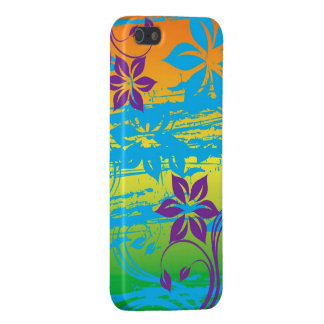 kleurrijk bloemen vectorart. iPhone 5 covers