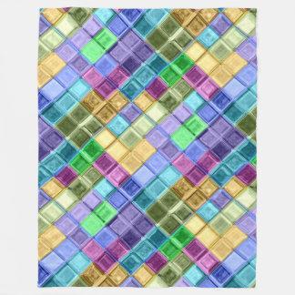 Kleurrijk de vachtmozaïek van mamma's fleece deken