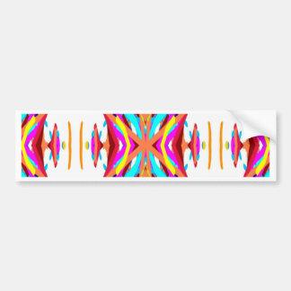 Kleurrijk Elegant Modern StammenPatroon Bumpersticker