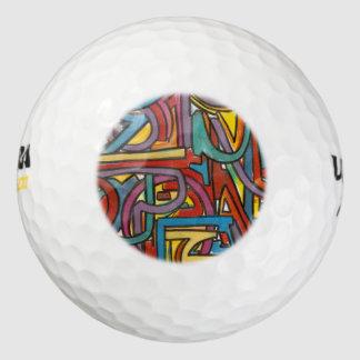 Kleurrijk Gewaagd Geometrisch Abstract Modern Art. Golfballen