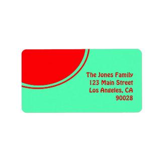 Kleurrijk groen rood mod. etiket