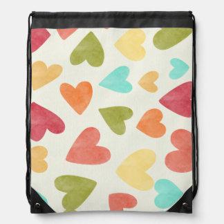 Kleurrijk hartenpatroon voor uw rugzak