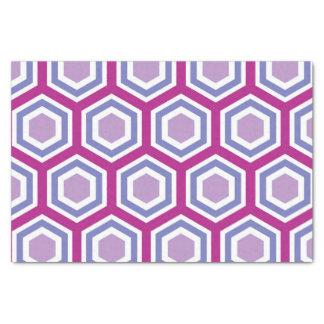 Kleurrijk Hexagonaal Patroon Tissuepapier
