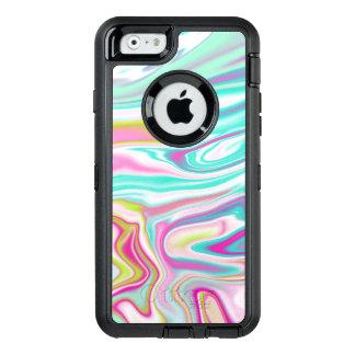 Kleurrijk Iriserend Marmeren Ontwerp OtterBox Defender iPhone Hoesje