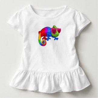 Kleurrijk Kameleon met het Overhemd van de Dag van Kinder Shirts