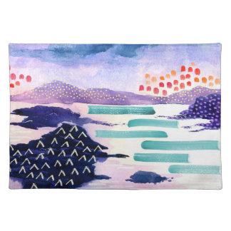 Kleurrijk Landschap Watercolour die Placemat
