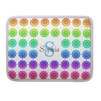 Kleurrijk Monogram 13 van het Patroon van de Beschermhoes Voor MacBook Pro