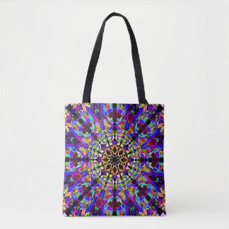 Kleurrijk Mozaïek Mandala Draagtas