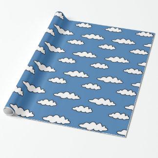 Kleurrijk Patroon van Wolken voor Kinder Partij Inpakpapier