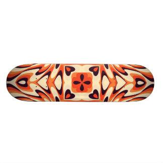 Kleurrijk Retro Bloemen Naadloos Patroon 21,6 Cm Old School Skateboard Deck
