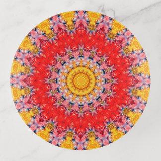 Kleurrijk Rood en Geel Art. Mandala Sierschaaltjes