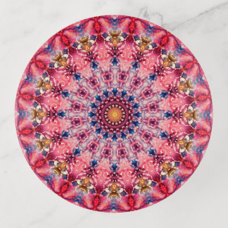 Kleurrijk Roze en Rood Art. Mandala Sierschaaltjes