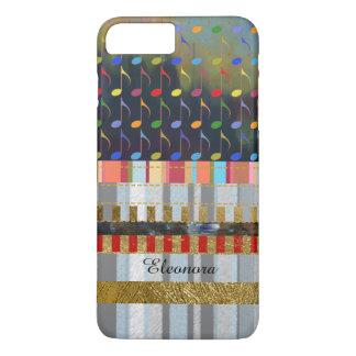 kleurrijk van muzieknota's en strepen nieuw iPhone 8/7 plus hoesje