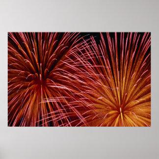 Kleurrijk Vuurwerk, de Dag van Canada Poster