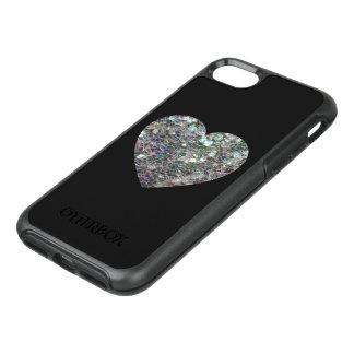 Kleurrijk zilveren het mozaïekHart van Sparkly op OtterBox Symmetry iPhone 8/7 Hoesje