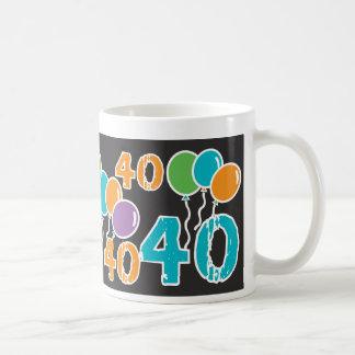 Kleurrijke 40ste Verjaardag - 40 yrs oude Bday Koffiemok