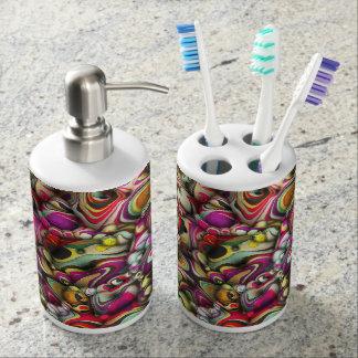Kleurrijke Abstracte 3D Vormen Tandenborstelhouder