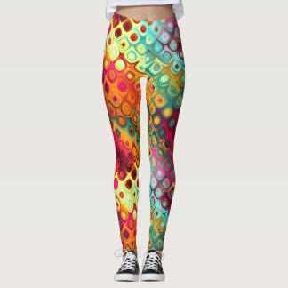 Kleurrijke abstracte dagdromen leggings