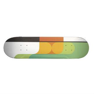 kleurrijke abstracte retro kunst lineaire geometri skateboard decks