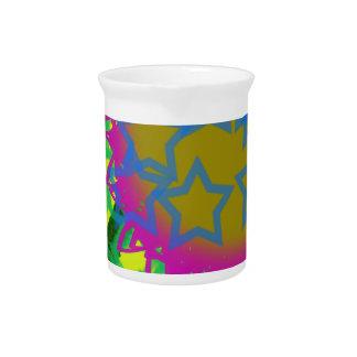 Kleurrijke Abstracte Sterren Drank Pitcher