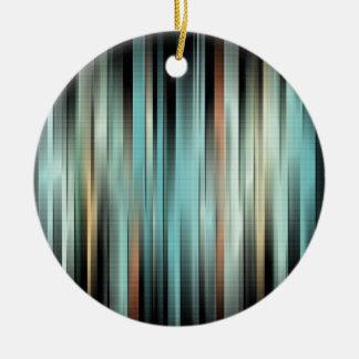 Kleurrijke Abstracte Strepen Rond Keramisch Ornament