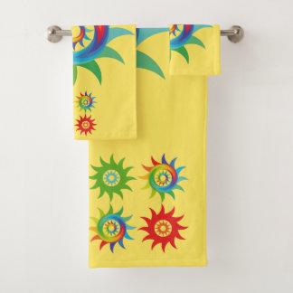 Kleurrijke abstracte vorm bad handdoek