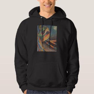 Kleurrijke abstracte vormen in ruimte hoodie