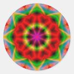 Kleurrijke abstractie om Sticker