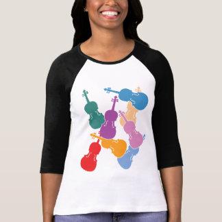 Kleurrijke Altviolen T Shirt