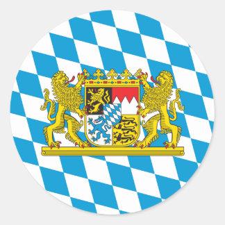 Kleurrijke Beierse Vlag Ronde Sticker