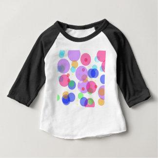 Kleurrijke bellen baby t shirts
