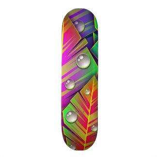 Kleurrijke bladeren 18,4 cm mini skateboard deck