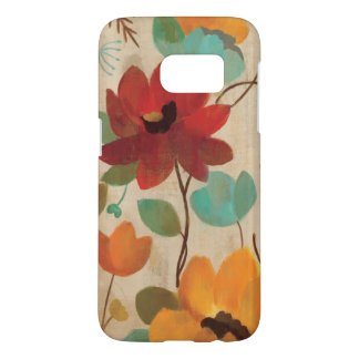 Kleurrijke Bloemen en Knoppen Samsung Galaxy S7 Hoesje