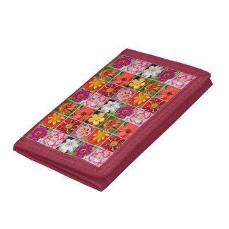 Kleurrijke bloemenpatroonportefeuille