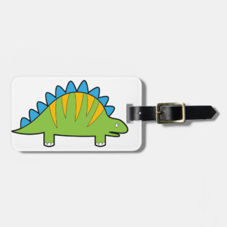 Kleurrijke cartoonstegosaurus Dino Kofferlabel