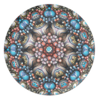 Kleurrijke Cirkel van 3D Vormen Diner Borden