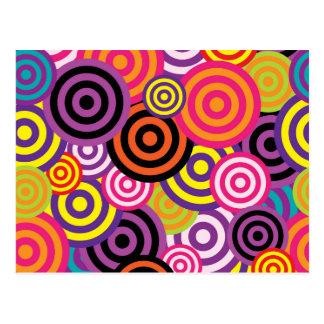 Kleurrijke cirkels briefkaart