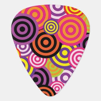 Kleurrijke cirkels gitaar plectrum