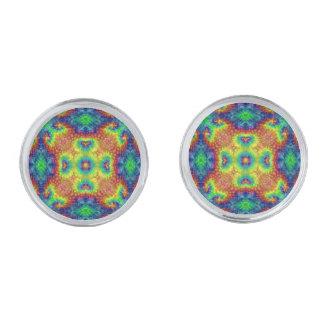 Kleurrijke Cufflinks van de Hemel van de Kleurstof Verzilverde Manchetknopen