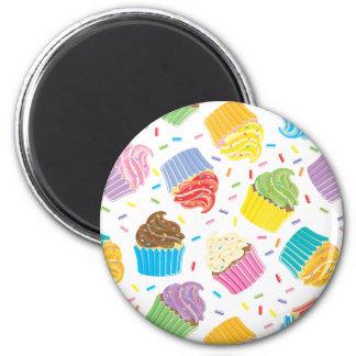 Kleurrijke Cupcakes magneten