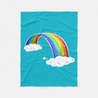 Kleurrijke de Wolken van de regenboog schitteren Fleece Deken
